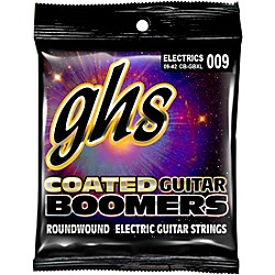 GHS GBXL Coated Boomers Extra Light Electric Guitar Strings (CB-GBXL)