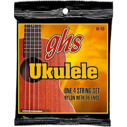 GHS H-10  Hawaiian Ukulele Black Nylon Strings (H-10)