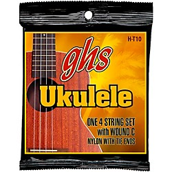 GHS Hawaiian Tenor Ukulele Black Nylon Guitar Strings - 10 (H-T10)
