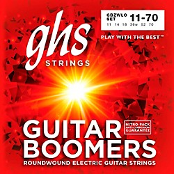 GHS Heavyweight Boomers Custom Lo-Tune Electric Guitar Strings Heavy (GBZWLO)