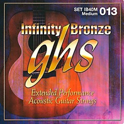 GHS Infinity Bronze Acoustic Medium Guitar Strings (IB40M)