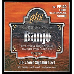 GHS J. D. Crowe Studio Signature 5-String Banjo Strings Light (PF 140)