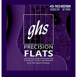 GHS M3050 Precision Flatwound Bass Strings Medium (M3050)