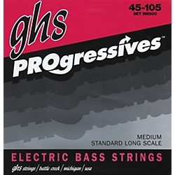 GHS M8000 Medium Progressives Electric Bass Strings (M8000)