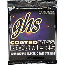 GHS ML3045 Coated Boomers Medium Light Bass Strings (CB-ML3045)