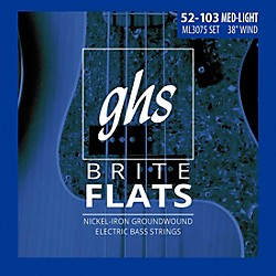 GHS ML3075 Brite Flats Flatwound Electric Bass Strings (ML3075)