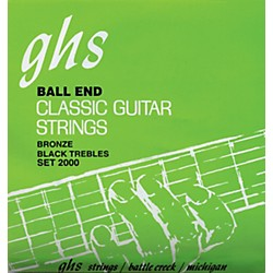 GHS Nylon and Phosphor Bronze Classical Guitar Ball End Strings (2000)