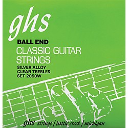GHS Nylon and Silver Classical Guitar Ball End Strings (2050W)