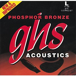 GHS Phosphor Bronze 12-String Light Acoustic Guitar Strings (615)