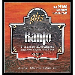 GHS Phosphor Bronze 5-String Banjo Strings Medium (PF160)