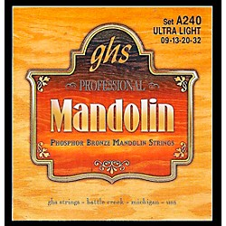 GHS Phosphor Bronze Mandolin Strings Ultra Light (A240)