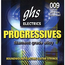 GHS Progressives Electric Guitar Strings Extra Light (PRXL)