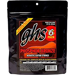 GHS S335 Phosphor Bronze Medium Acoustic Guitar Strings 5-Pack (S335-5 SET)