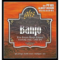 GHS Stainless Steel 5-String Banjo Strings - Almost Medium (PF185)