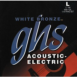 GHS WB12L White Light 12-String Acoustic-Electric Guitar Strings (WB12L)