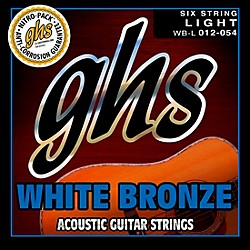GHS WBL White Bronze Light Acoustic-Electric Guitar Strings (WBL)
