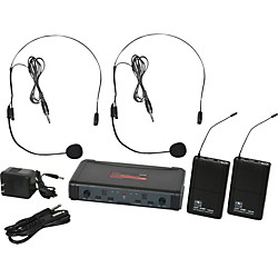 Galaxy Audio ECD Dual Channel UHF Wireless System with Dual Headset Microphones (USED004000 ECDR/38SSD)