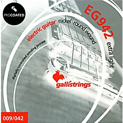 Galli Strings EG0942 PROCOATED Extra Light Electric Guitar Strings 9-42 (EG0942)
