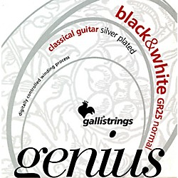 Galli Strings GR25 GENIUS Black and White Coated Silverplated Normal Tension Classical Acoustic Guitar Strings (GR25)