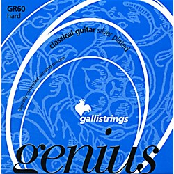 Galli Strings GR60 C GENIUS Coated Silverplated Hard Tension Classical Acoustic Guitar Strings (GR60 C)