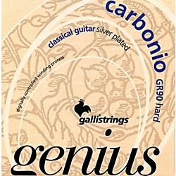 Galli Strings GR90 GENIUS CARBONIO Nylon Coated Silverplated Hard Tension Classical Acoustic Guitar Strings (GR90)