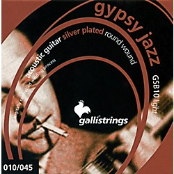 Galli Strings GSB10 GYPSY JAZZ Silverplated Round Wound Light Acoustic Guitar Strings (GSB10)