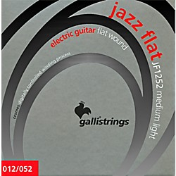 Galli Strings JF1252 JAZZ FLAT WOUND Medium Light Electric Guitar Strings 12-52 (JF1252)