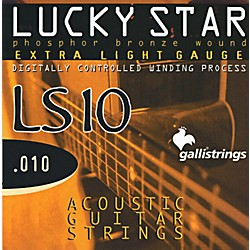 Galli Strings LS10 LUCKY STAR Phosphor Bronze Round Wound Extra Light Acoustic Guitar Strings (LS10)
