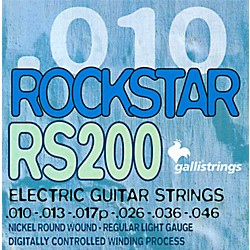 Galli Strings RS200 ROCKSTAR Regular Light Electric Guitar Strings 10-46 (RS200)