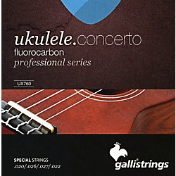 Galli Strings UX760 FLUOROCARBON Concerto UKULELE Strings (UX760)