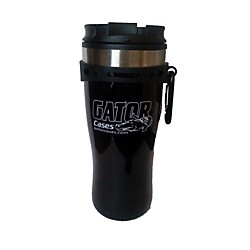 Gator Black Travel Mug with Black and White Gator Cases Logo (G-TRAVEL MUG)