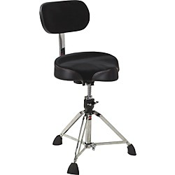 Gibraltar Drum Throne with Oversized Motorcycle Seat and Backrest (9608MB_71574)