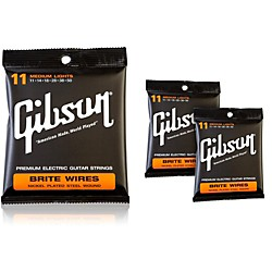 Gibson Brite Wires Medium Electric Guitar Strings (KIT772520)
