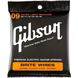 Gibson Brite Wires Ultra Light Custom Guitar Strings 3 Pack (KIT772519)