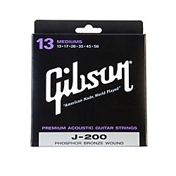 Gibson J-200 Deluxe Phosphor Bronze Acoustic Guitar Strings - Medium (SAG-J200)