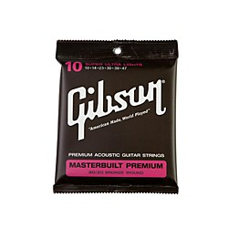 Gibson Masterbuilt Premium 80/20 Bronze Super Ultra Light Acoustic Guitar Strings (SAG-BRS10)