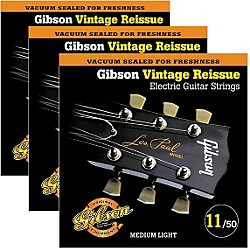 Gibson Vintage Reissue 3-Pack VR11 Electric Guitar Strings (KIT772516)