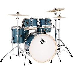gretsch drums energy 5 piece drum set blue sparkle with hardware and zildjian cymbals music arts. Black Bedroom Furniture Sets. Home Design Ideas