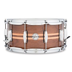 Gretsch Drums Silver Series Walnut Snare Drum with Maple Inlay (S1-6514W-MI)