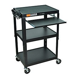 H. Wilson Adjustable Height Cart with Keyboard Tray (AVJ42KB)
