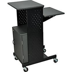 H. Wilson Adjustable Height Presentation Station with Locking Cabinet (PS4000C)