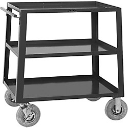 H. Wilson Metal 44 3 Shelf Large Equipment Truck (W44Te8 Black)