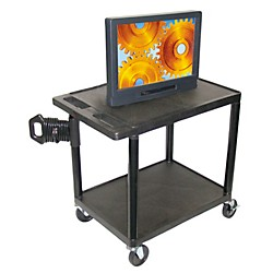 "H. Wilson Mobile Plasma/ LCD Cart (Up To 50"" Screen) (LE27CWTUD-B)"