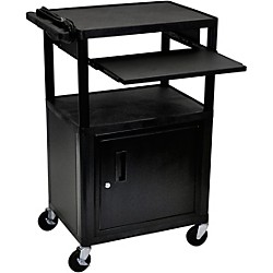 H. Wilson Plastic Cart with Pullout Keyboard Tray (LP42LE-B)