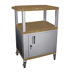 H. Wilson Tuffy Cart with lockable cabinet (WT34TNC4E-N)