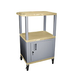 H. Wilson Tuffy Cart with lockable cabinet (WT42TNC4E-N)