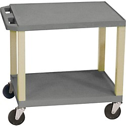 "H. Wilson Tuffy Plastic 26"" 2 Shelf Utility Cart (Wt26E Gray)"