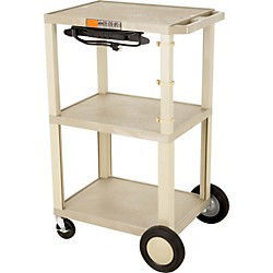 "H. Wilson Tuffy Plastic 42"" 3 Shelf Cart/Cabinet 20 (Wt42Cbeul20 Tan)"