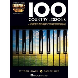 Hal Leonard 100 Country Lessons - Keyboard Lesson Goldmine Series Series Book/2-CD Pack (122265)