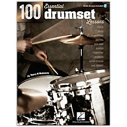 Hal Leonard 100 Essential Drumset Lessons Book/CD (103628)